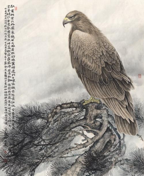 《工笔鹰画法》出版