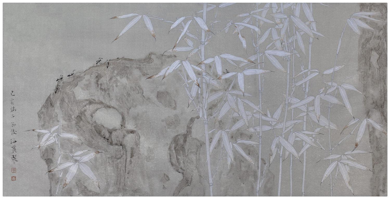 黄海丽工笔《竹林逸趣》